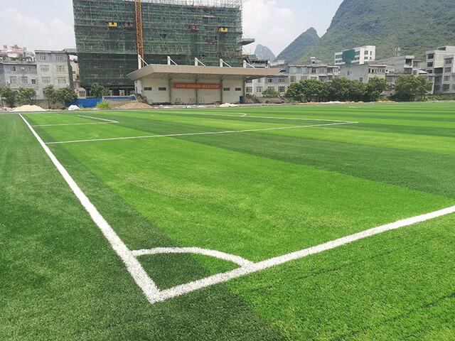 广西大化县***中学人造草坪案例