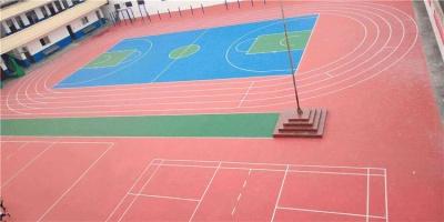 中学操场塑胶跑道