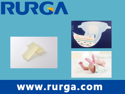 Side tape adhesive for baby diaper