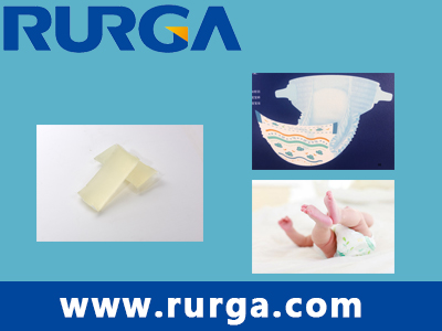 Elastic adhesive for baby diaper
