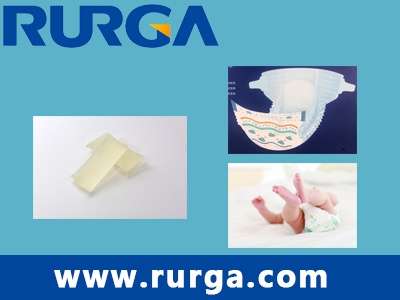 Frontal tape adhesive for baby diaper