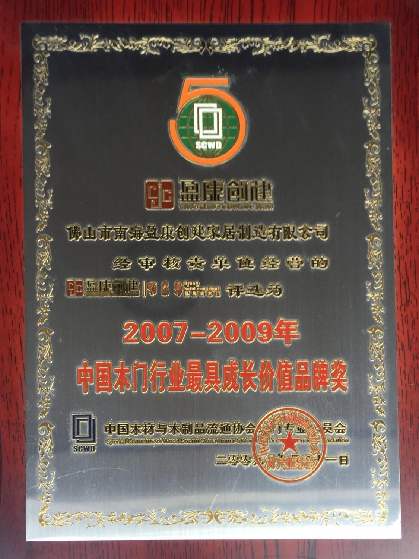 2007-2009中國木門行業最具成長價值