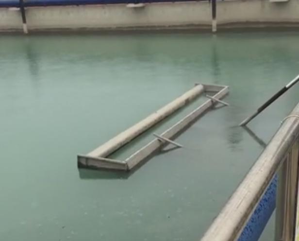 污水处理厂碟式射流曝气器运行视频