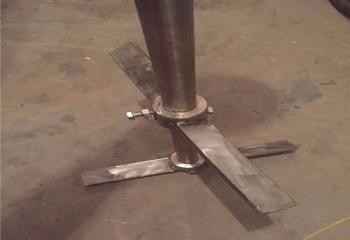 斜叶浆顶入式搅拌器