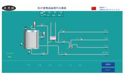 高温蒸汽灭菌反应器控制系统