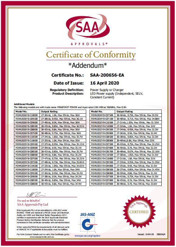 SAA证书3