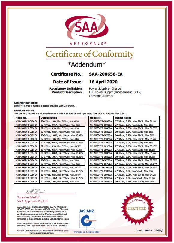 SAA证书1