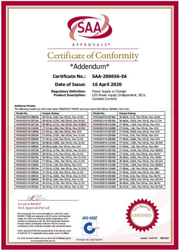 SAA证书2