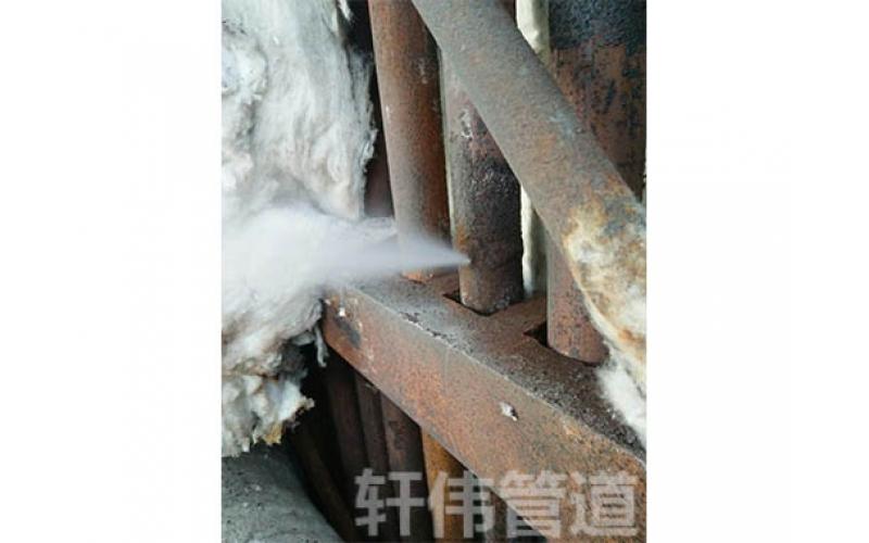 蒸汽管线焊缝泄漏