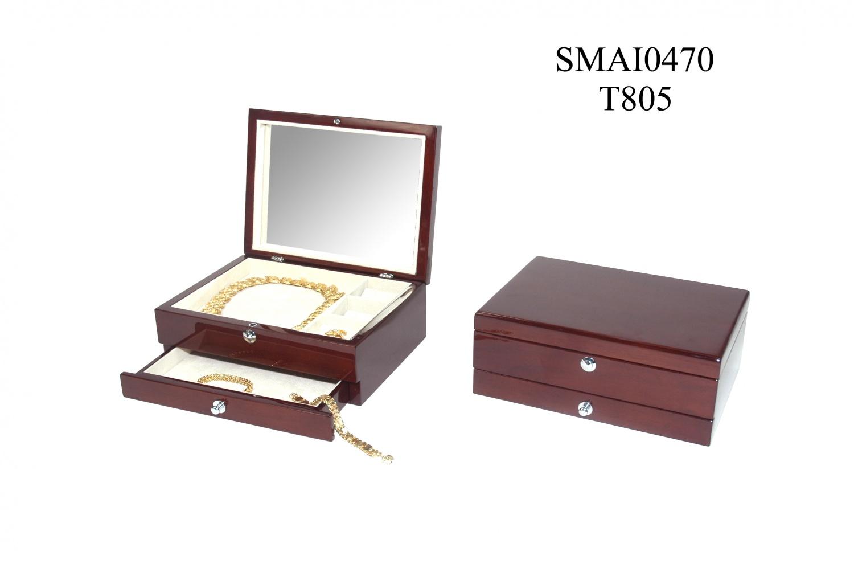 D高光喷油实木首饰盒
