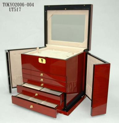 高光喷油木盒大号珠宝首饰箱1