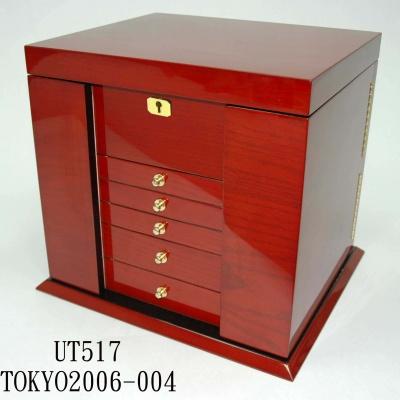 高光喷油木盒大号珠宝首饰箱2