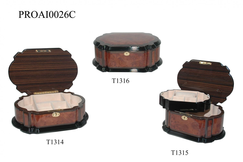 高光喷油木盒大号珠宝首饰箱4