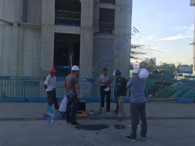 新建楼盘防雷设施分段检测