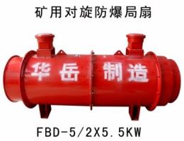 FBD系列煤礦用防爆壓入式對旋軸流局部通風機