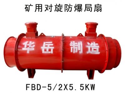 FBD系列煤矿用防爆压入式对旋轴流局部通风机