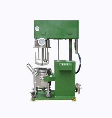 Fully pneumatic multifunctional mixing and homogenizing mixer