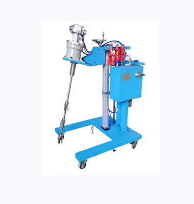 Trolley extension type pneumatic lifting mixer (one machine for multiple purposes)