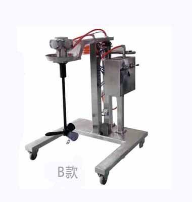 Trolley type pneumatic lifting mixer(SUS)