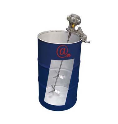 Bucket type pneumatic mixer
