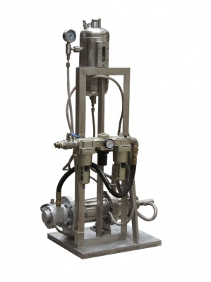 Pneumatic pipeline emulsification pump