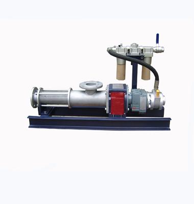 Horizontal pneumatic screw pump