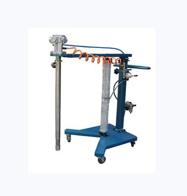 Trolley type pneumatic lifting screw pump