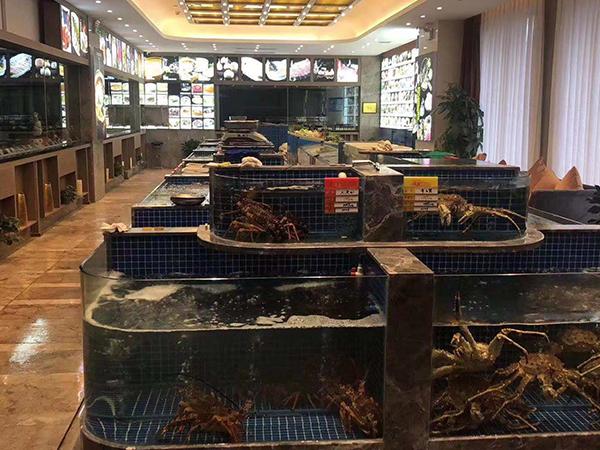 饭店海鲜池