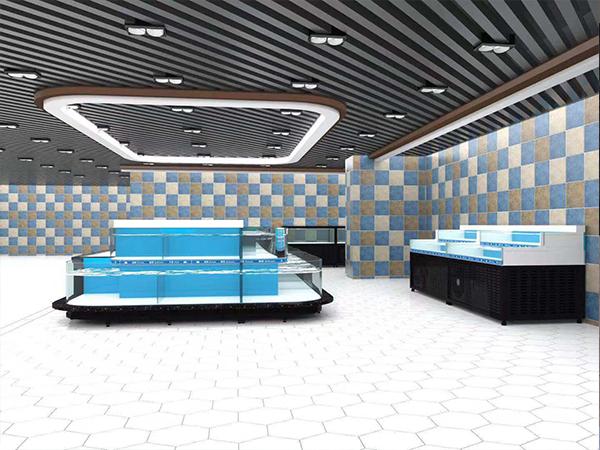 大厅开放式海鲜池
