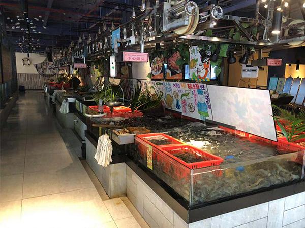 超市生鲜区海鲜池