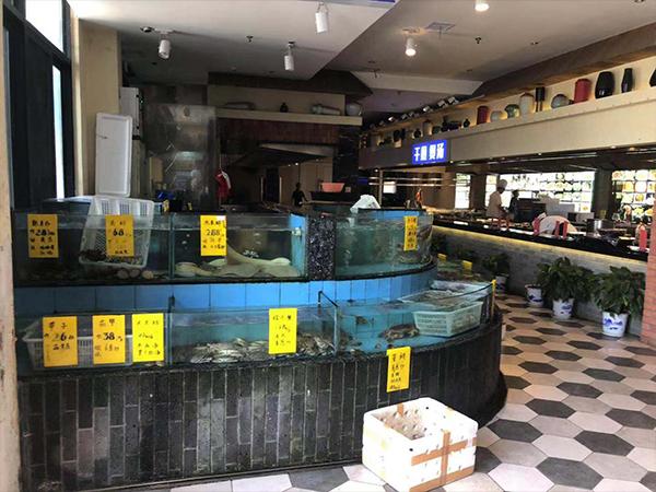 海鲜饲养池