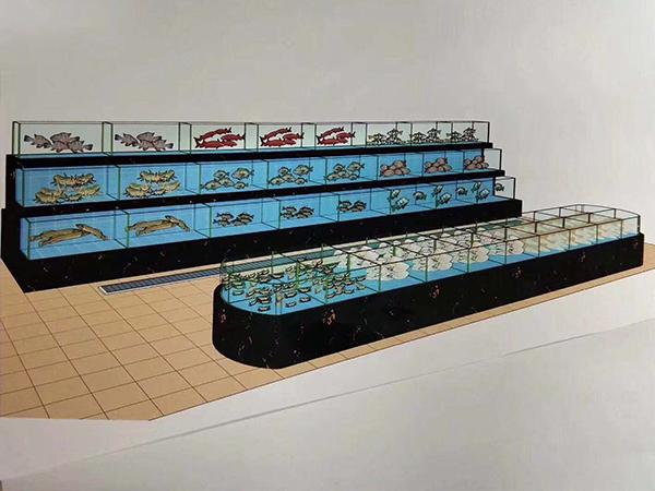 玻璃海鲜饲养池
