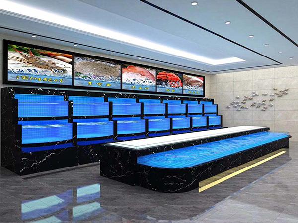 温泉宾馆海鲜池施工完成