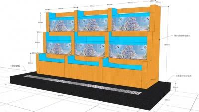 海鲜池定做设计图展示