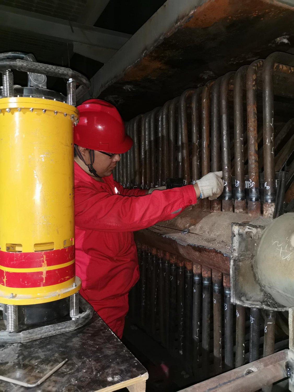 琦泉公司锅炉检修现场射线检测