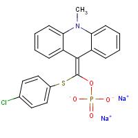 9-(4'-氯苯硫代磷酰氧亚甲基)-10-甲基-9,10-二氢化吖啶二钠盐 APS-5【193884-53-6】