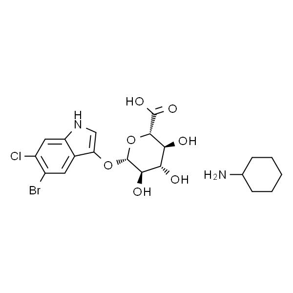 5-溴-4-氯-3-吲哚基-β-D-葡糖苷酸环己胺盐