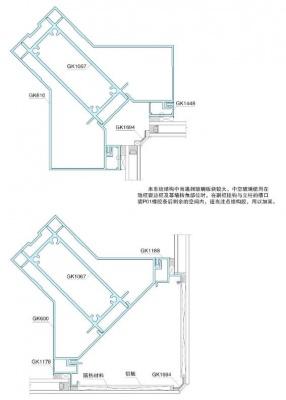 幕墙转交专用型材结构图(100mm)