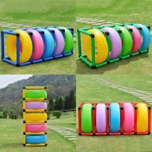 包邮幼儿园感统玩具塑料胶滚圈钻洞儿童彩色多用多变滚轮胎架子