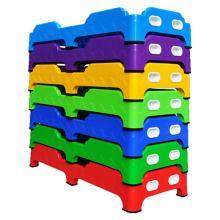 幼儿园专用塑料床 折叠式