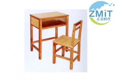 全实木单人课桌椅
