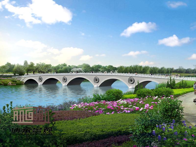 龙潭景观桥 桥梁装饰