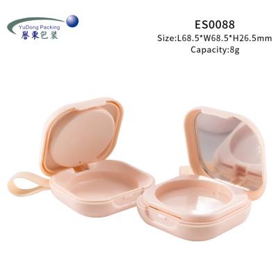 粉紅方形腮紅盒帶提環 ES0088