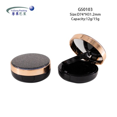黑色圆形气垫盒 GS0103