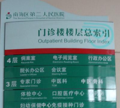 南海区二医院标识系统