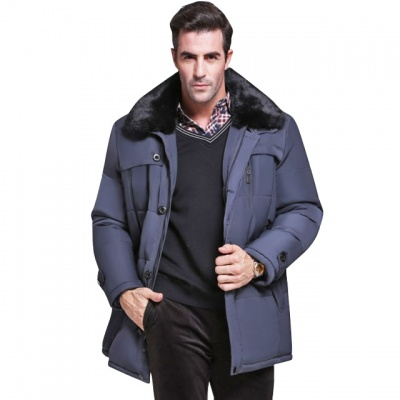 秋冬新款男装外套保暖棉衣发热服防寒棉服中长款保健上衣
