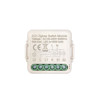 Zigbee Switch Module(1/2/3 gang)