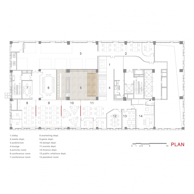 lander 方形图 plan