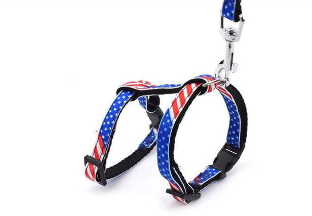 Cats Collars Harnesses(USA Flag & Camouflage)