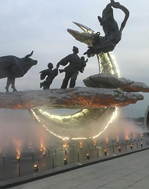 西安昆明池鹊桥仙标段喷泉项目